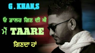 Taare | G Khan | New Punjabi Songs 2018 | Latest Punjabi Songs | By Music Track Chakde