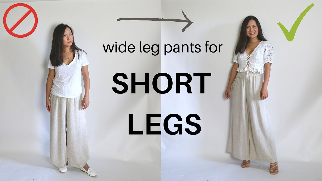 How to wear wide leg pants if you have short legs (like me)