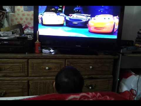 Watching CARS 2 with Cheekiez