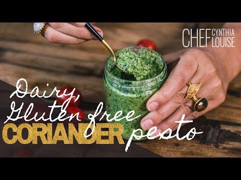 Dairy and Gluten-Free Coriander Pesto Recipe