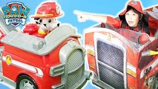 パウ・パトロールと恐竜の救助 ごっこ遊び!PAW Patrol toys for children!