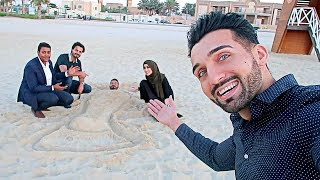 WE ALMOST GOT KICKED OUT of DUBAI BEACH For THIS!!!