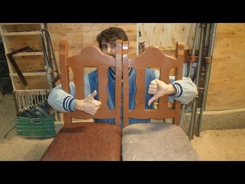 Como restaurar una silla de madera labrada parte 3 como - Tapizar sillas de madera ...