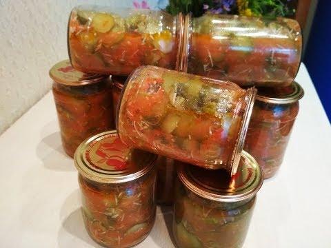 Вкусный рецепт на зиму -  огурцы в томатно  чесночной заливке, быстро и просто!