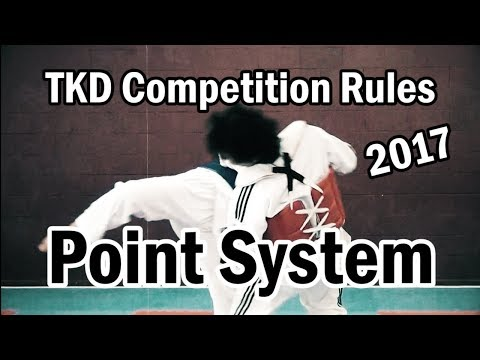 Taekwondo Competition Rules 2017 | New Point System | TaekwonWoo