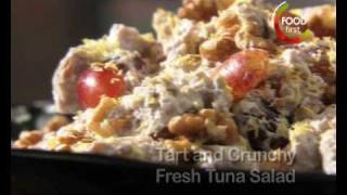Healthy Recipe -low Cal - Tart And Crunchy Fresh Tuna Salad  - 5 Ingredient Fix - Easy Quick To Make