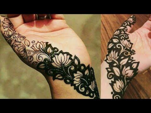Beautiful Lotus Mehndi Design Youtube