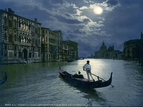 19 RARE COLOURED PICTURES OF VENICE IN 1890s