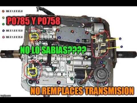 Chevrolet 4 3 96 2002 P0758 Y P0756 FALLA DE TRANSMISSION