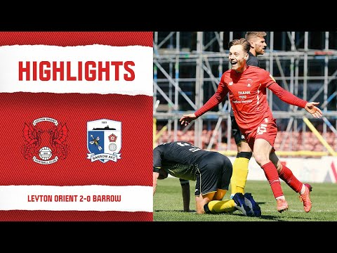 Leyton Orient Barrow Goals And Highlights
