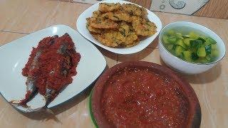 Resep sayur bening + ikan tongkol bumbu bali + bakwan jagung komplit sambal matah