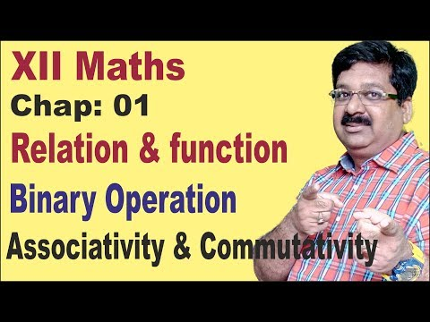 NCERT XII Maths Chap-01-Binary operations - Associativity & Commutativity