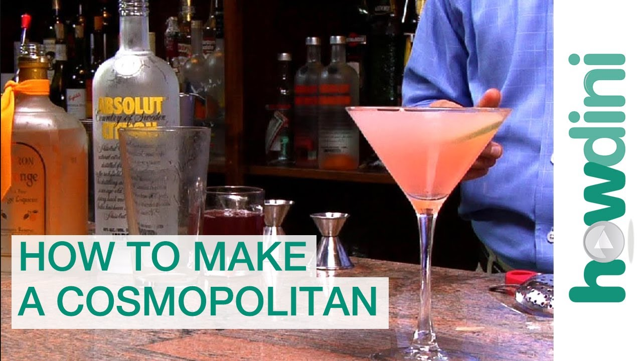How To Make A Cosmopolitan Cosmopolitan Drink Recipe Youtube