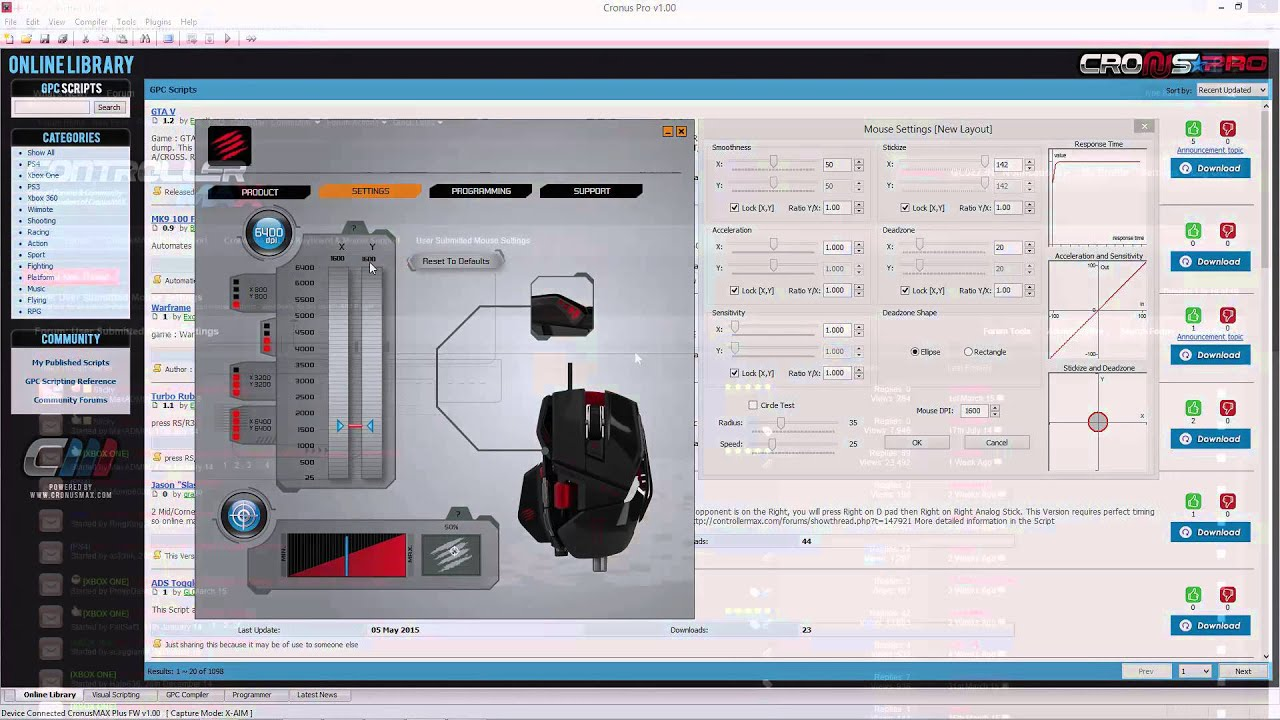CronusMAX PLUS - How to Tune Mouse Settings by Cronus Max