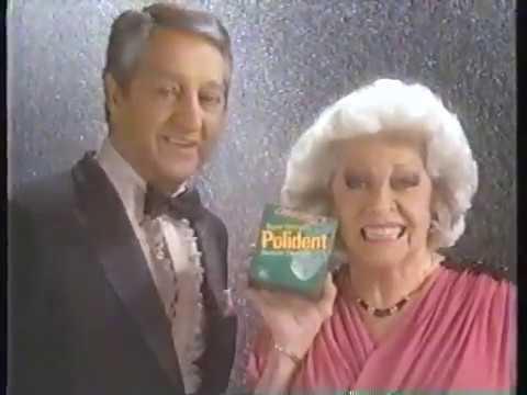 Polident Denture Cleaner 1986 Celebrity Commercial