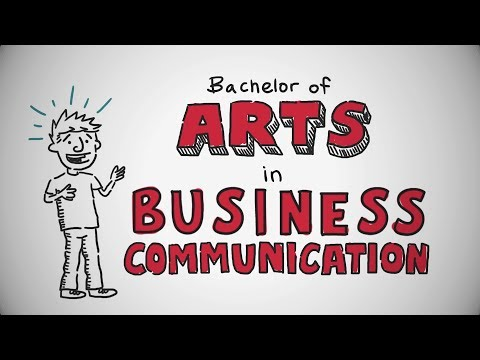 UCW Bachelor of Arts in Business Communication animation