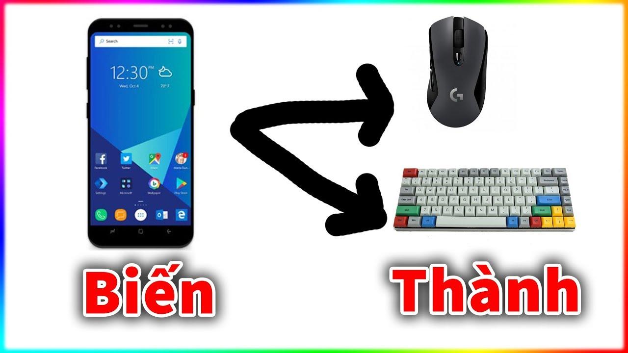 Dùng điện thoại Android làm bàn phím và chuột cho máy tính
