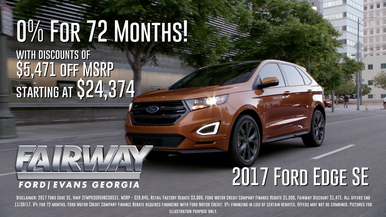 Fairway Ford Year End Sales Event  Ford Edge Se