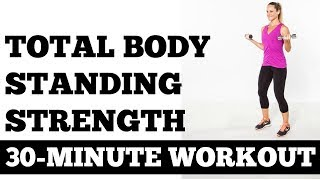30-Minute Total Body Standing Strength [Prenatal Approved!] Workout JESSICASMITHTV