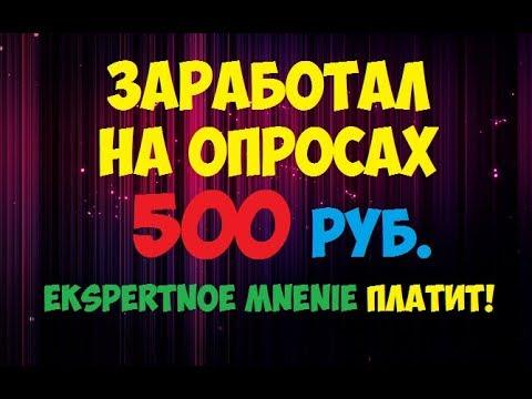 Заработал на опросах 500 рублей и вывел (Экспертное мнение платит)