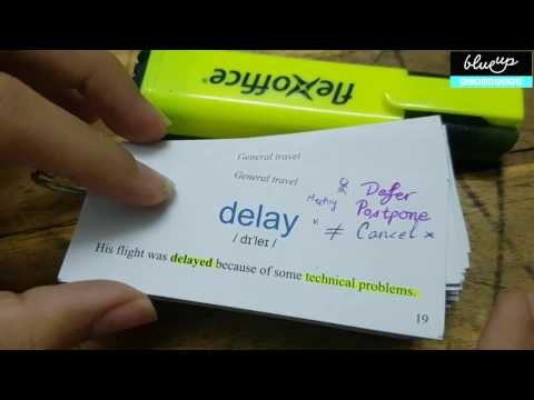 Học từ vựng TOEIC - Phân biệt từ đồng nghĩa - DELAY
