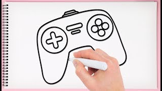 How to Draw Gamepad Step by Step Learn Drawing Joystick Easy for Kids
