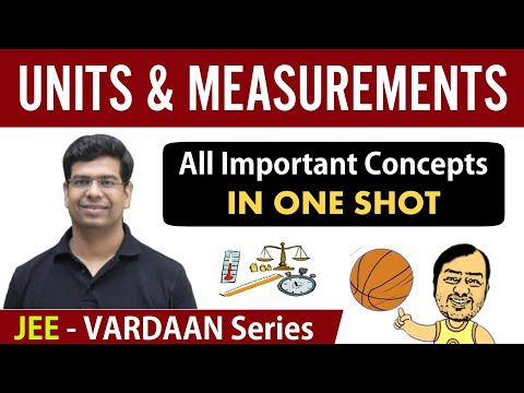 Units And Measurements - All Important Concepts In 1 Shot | Class 11 | JEE Mains | Vardaan Series