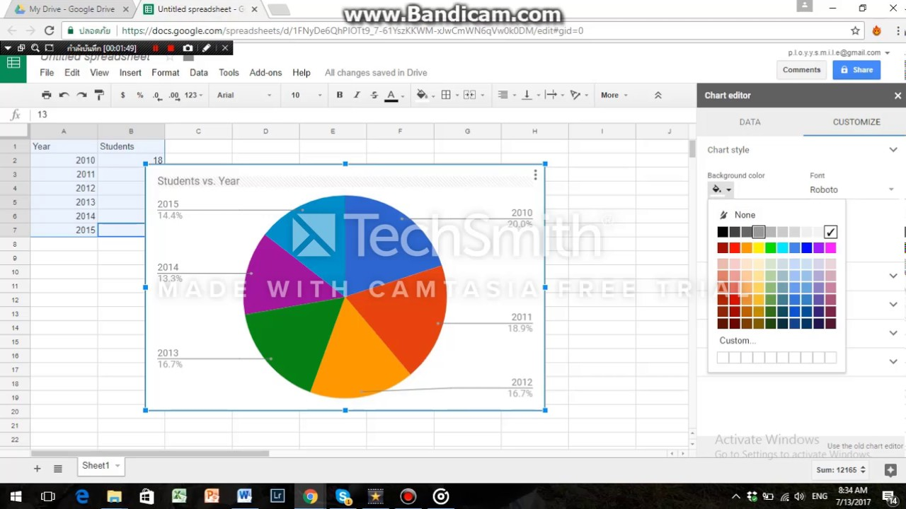 G suite spreadsheet pie chart youtube g suite spreadsheet pie chart nvjuhfo Image collections