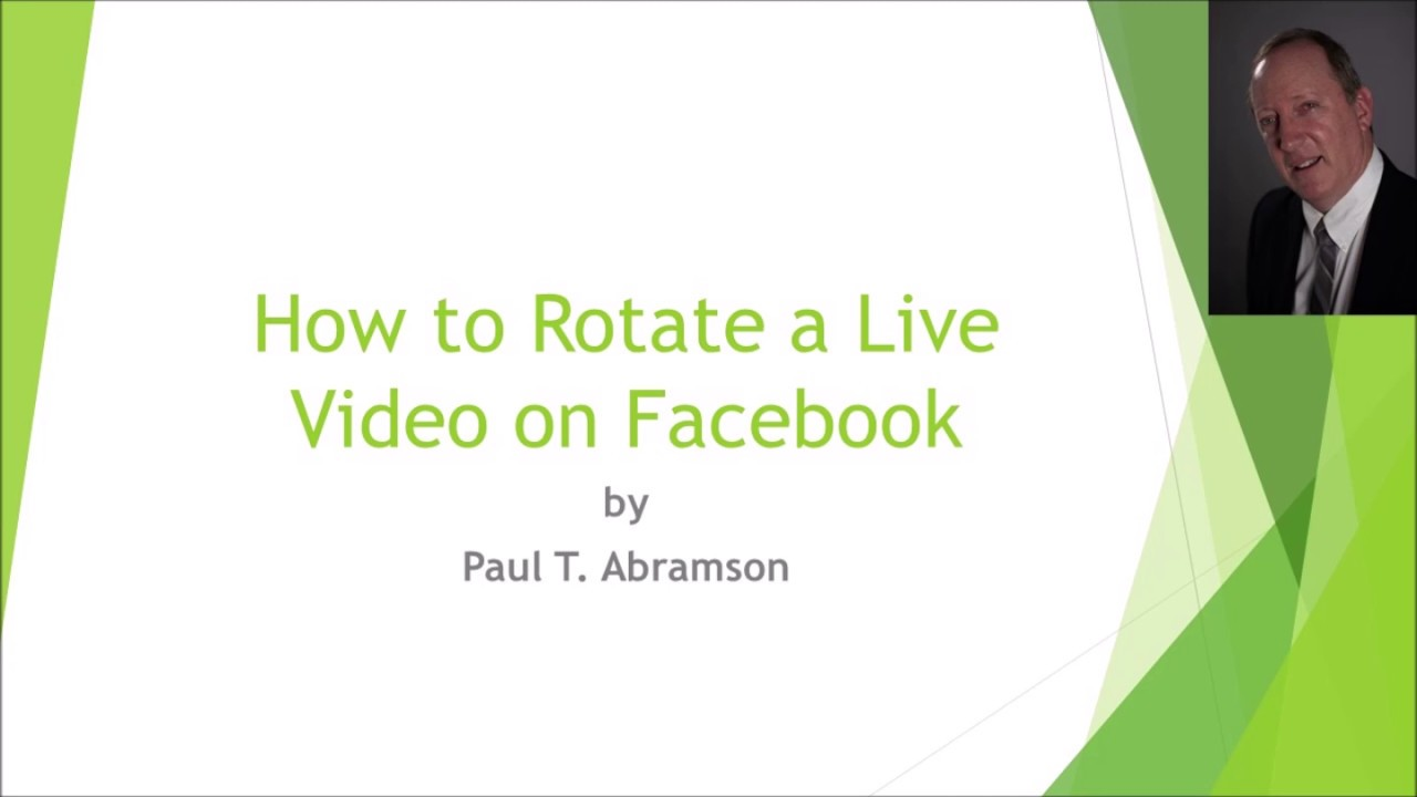 Download How to Rotate a Live Video on Facebook