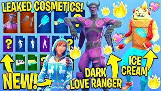 ALL LEAKED FORTNITE SKINS & EMOTES..!!! (Dark Love Ranger, Lil Whip, Overdrive...)
