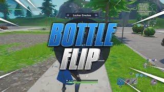 "Using the ""BOTTLE FLIP"" emote on everyone i kill on Fortnite... (SO HARD)"