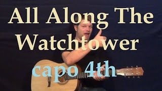 Video All Along the Watchtower (Bob Dylan) Easy Strum Guitar Lesson - How to Play Chords Beginner download MP3, 3GP, MP4, WEBM, AVI, FLV Mei 2018