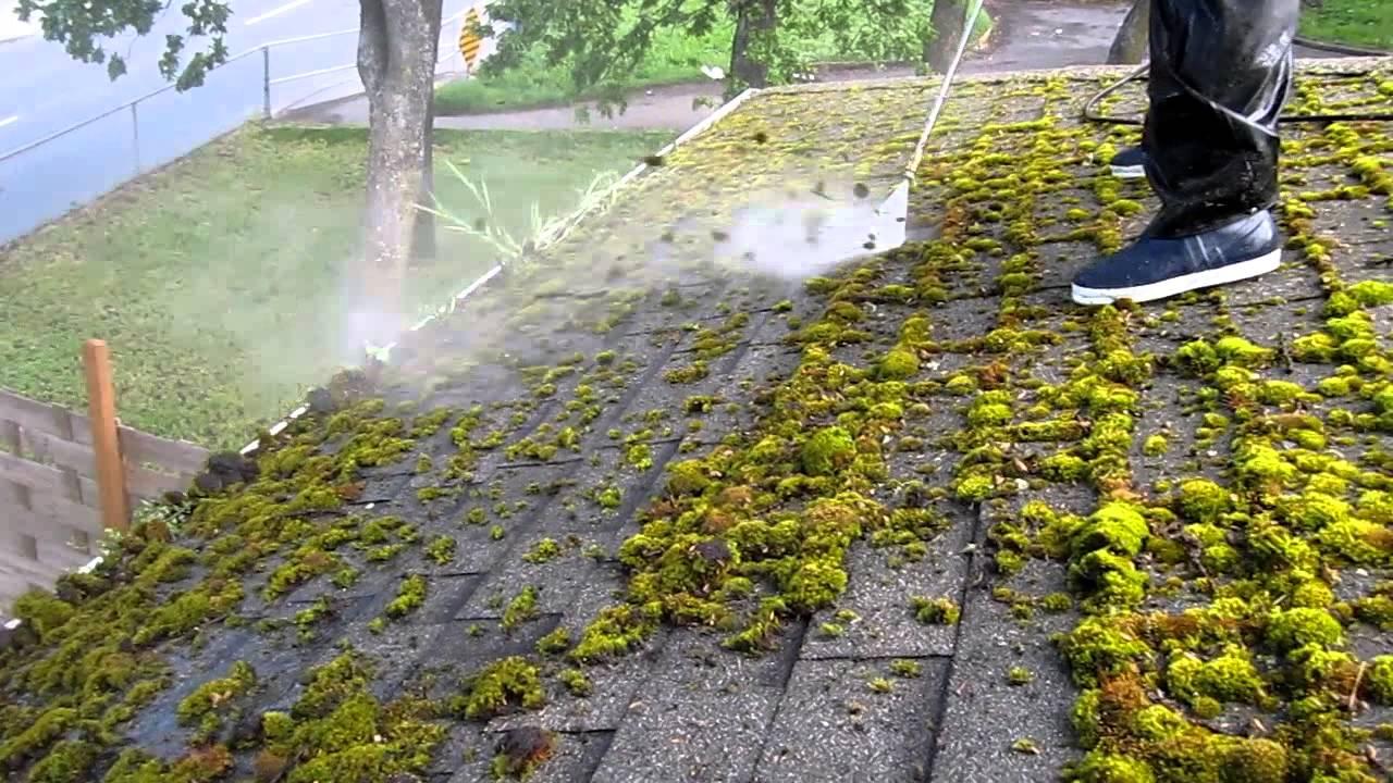 Dr Demoss Demossing A Moss Heavy Roof Youtube