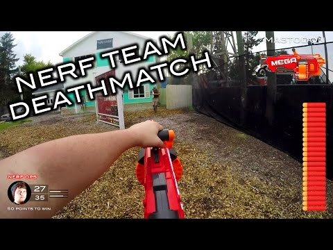 Thumbnail: Nerf meets Call of Duty: Team Deathmatch | First Person on Real Life Nuketown!