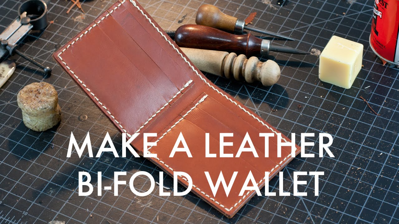Making A Leather Bi Fold Wallet Build Along Tutorial
