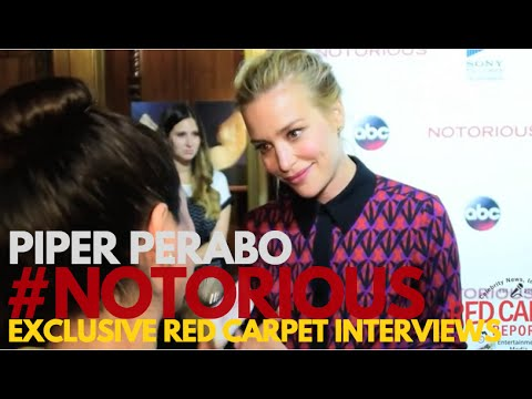 """Piper Perabo interviewed at ABC's """"Notorious"""" red carpet premiere screening #Notorious"""