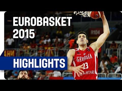 MKD v Georgia - Group C - Game Highlights - EuroBasket 2015