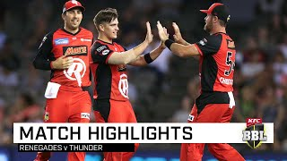 Finals-bound Renegades roll Thunder | KFC BBL|08