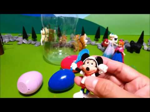 frozen surprise eggs papa troll disney mickey collection large baby