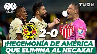 ¡Manda el Águila! América derrota y elimina a Necaxa en Semifinal | América 2-0 Necaxa | TUDN