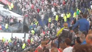 Feyenoord Hooligans Screaming vs Besiktas : Fuck ALLAH