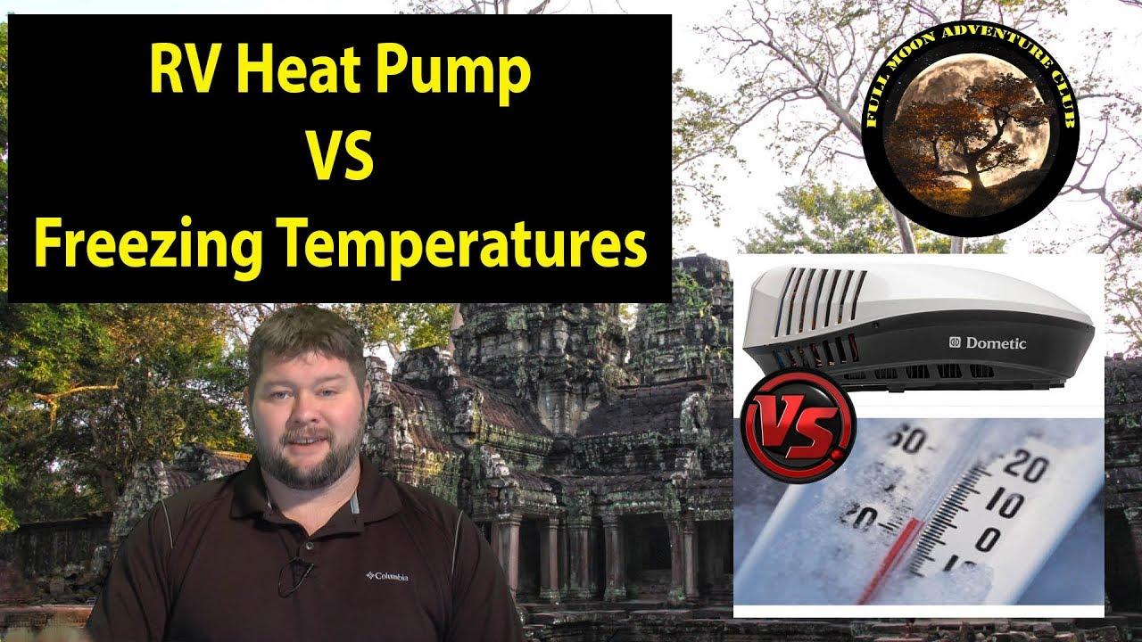 RV Heat Pump Cold Test  Dometic Blizzard NXT vs Snow