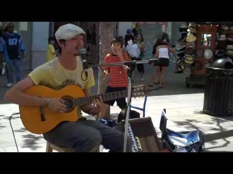 JOHN WEST - APRIL 19TH 2009 SANTA MONICA, CA, 3RD STREET PROMENADE (Raw Clip 1) @The Art Underground