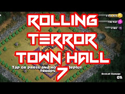 CLASH OF CLANS ROLLING TERROR TOWN HALL 7