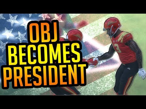 93 Overall OBJ Becomes President Of The United States Mid Game! #OBJ2017 Madden 18 Ultimate Team
