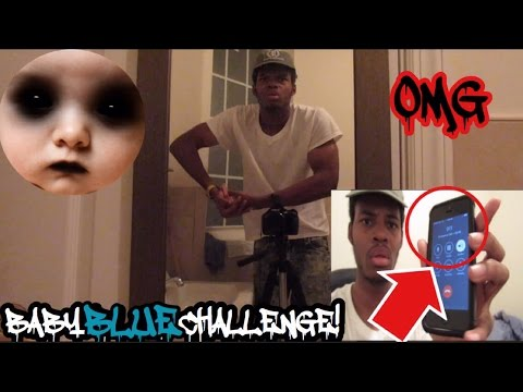 BABY BLUE CHALLENGE! DEMON ATTACKED ME!! I CALLED 911