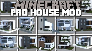 Minecraft INSTANT PRO HOUSE MOD / SPAWN HUGE BUILDINGS INSTANT PRO HOUSE!! Minecraft