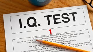 IQ TEST - Online Intelligence Quotient Test 1