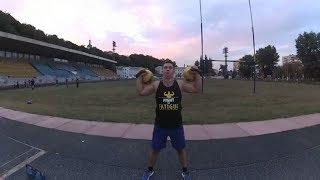 Упражнения с гирями для развития дельтовидных мышц. Гиревой фитнес.