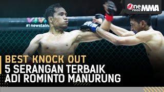 PATAHKAN  KAKI LAWAN! 😭 5 Serangan Badai Adi Rominto Manurung  || Best Knock Out One Pride MMA
